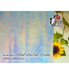 """Verre """"UR"""" bleu et bleu turquoise 38x30cm"""