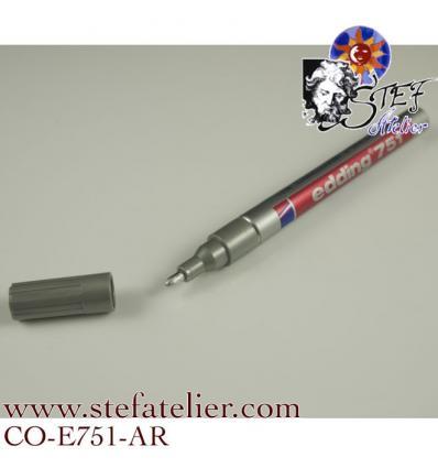 crayon laque couleur argent pointe 1 à 2 mm pour écrire sur le verre