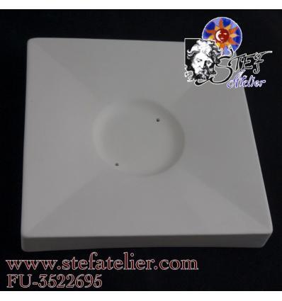 Moule céramique fusing petite assiette carrée 15,5x15,5cm casablanca