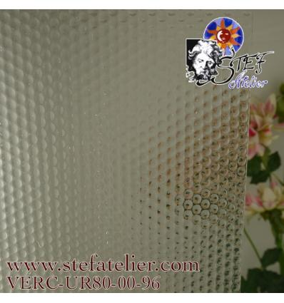 """Verre """"UR"""" couleur cristal relief boulles S96  30x30cm"""