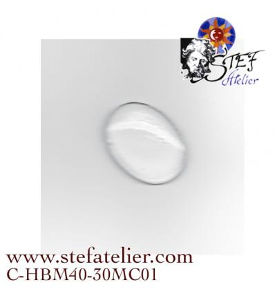 Cabochon oval 40x30mm clair