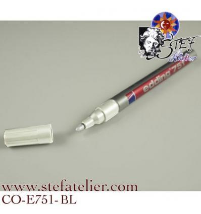 crayon laque couleur Blanc pointe 1 à...