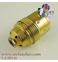 Douille de lampe dorée E27