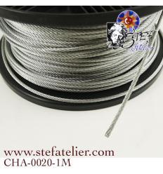 Cable 3mm électrogalvanisé 1m