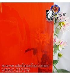 """verre """"S"""" Watterglass orange vif 30x27cm"""