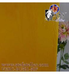 """verre """"BU"""" jaune orangé 29x25cm"""