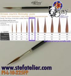 pinceau à trait N°10 en martre naturelle longueur des poils  32mm environ