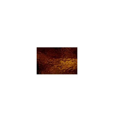 """Verre """"S"""" brun foncé et jaune bariolé cathédrale 30x30cm"""