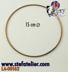 Cercle en fil de cuivre 15cm diamètre
