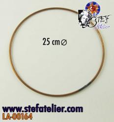 Cercle en fil de cuivre 25cm diamètre