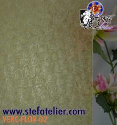 """Verre """"W"""" florentine jaune ambre clair 30x30cm"""