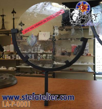 Pied pour création vitrail ou fusing de 20cm diam