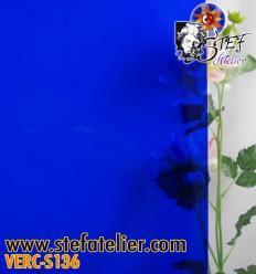 """Verre """"S"""" bleu foncé 30x30cm"""