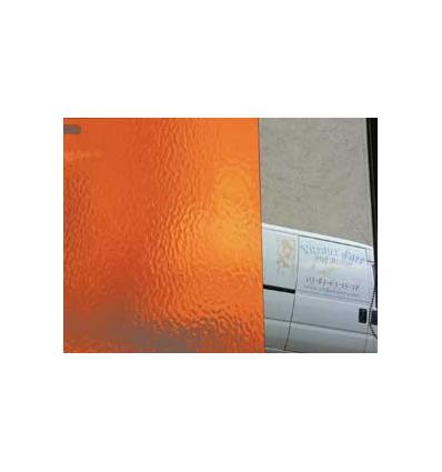 "Verre ""S"" Verre cathédrale Orange vif 30x30cm"