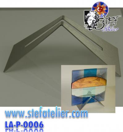 Support pour création vitrail ou fusing de 20cm. Epaisseur max 8mm