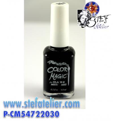 """Peinture sur verre sans cuisson """"Color Magic"""" noir opaque mat"""