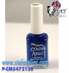 """Peinture sur verre sans cuisson """"Color Magic""""bleu Lazuli"""