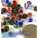 petits millefiori 14grs en mélange pour Fusing S96
