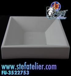 Moule  fusing carré fond carré 16x16cm 3,3ht