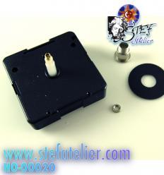 Mécanisme d'horloge pour plaque de 8 à 10mm max - trou 10mm diam (fabrication allemande)