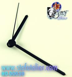 aiguilles noires pour mécanisme horloge 80/60mm
