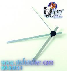 aiguilles argentées pour mécanisme horloge 80/60mm