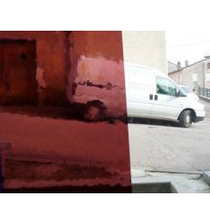 """VERRE """"S"""" violet rosé moyen compatible fusing 30x30cm"""