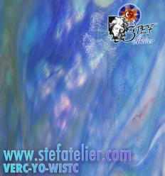 """Verre """"YO"""" bleu Wisteria C 30x29cm"""