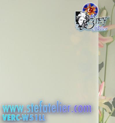 """Verre """"W"""" blanc semi-translucide 27x35cm"""
