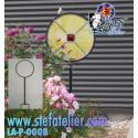 support présentoir de jardin rond pour vitrail ou fusing d' environ 32,5cm de diam