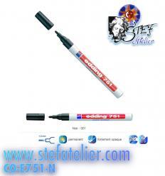 crayon laque couleur noire pointe 1 à 2mm