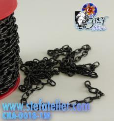 Chaine maillon horloger noir 1m
