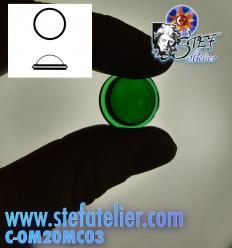 cabochon rond épais 20mm vert