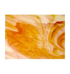 "Verre ""KO"" orange jaune opaline 26x26cm"