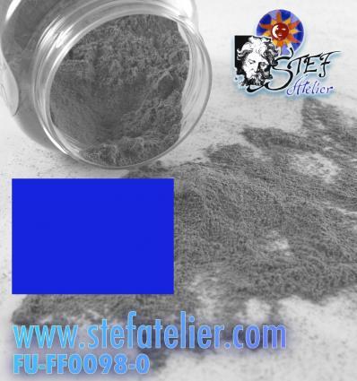 Poudre bleu turquoise foncé transparente pour verre float 250grs