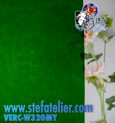 "Verre ""W"" Cathédrale Mystic Vert 320 26x27cm"