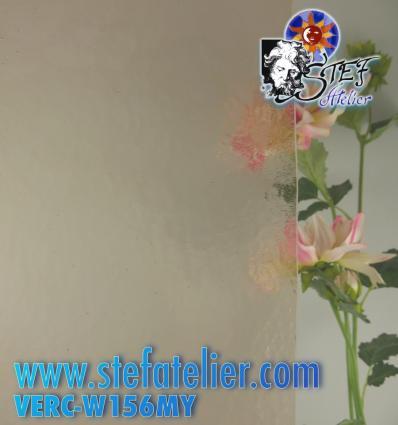 """Verre """"W"""" Cathédrale Mystic Brun clair 156 26x27cm"""