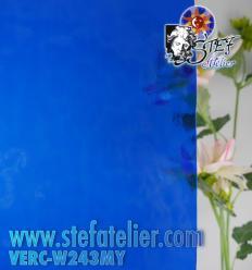 "Verre ""W"" Cathédrale Mystic bleu 243 26x27cm"