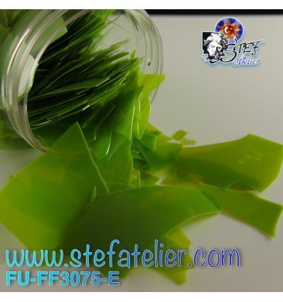 Confettis vert pistache opal pour verre float 400grs