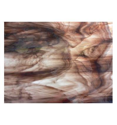 "Verre ""S"" Opalescent brun chocolat et clair 30x30cm"