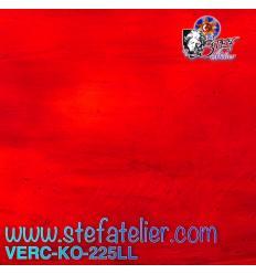 "Verre "" KO"" rouge moyen bariolé 26x26cm"
