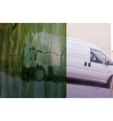 """Verre """"S"""" vert olive bariolé watterglass 30x27cm"""