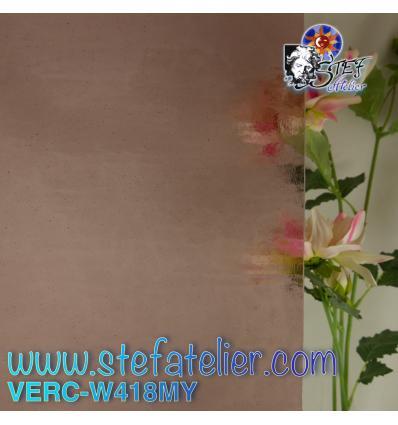 "Verre ""W"" Mystic rose ancien clair 26x27cm"