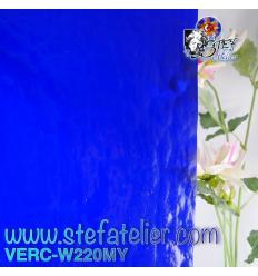 """Verre """"W"""" Mystic 220 Bleu 26x27cm"""