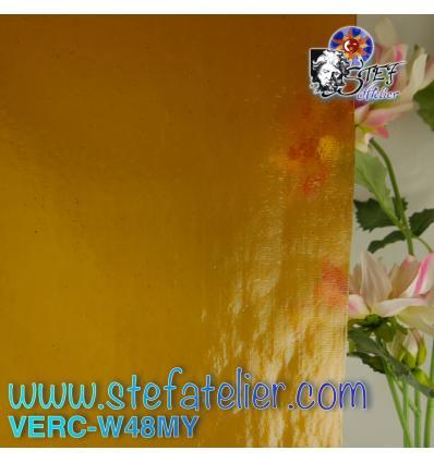 """Verre """"W"""" Mystic 48 jaune ambre 26x27cm"""