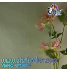 "Verre ""W"" Mystic 78 vert pale 27x26cm"