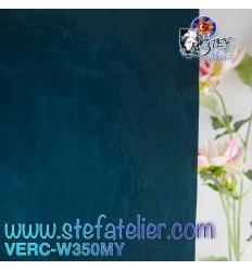 "Verre ""W"" Mystic 350 bleu turquoise 26x27cm"