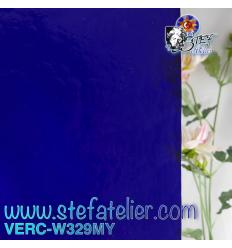 """Verre """"W"""" Mystic 329 bleu 26x27cm"""