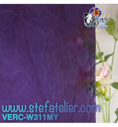 "Verre ""W"" Mystic 311 violet 26x27cm"