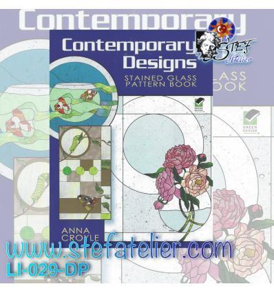 Livre 70 modèles et photos couleurs  vitraux contemporains